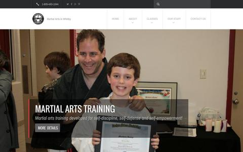Screenshot of Home Page dmma.ca - Martial Art Lessons in Whitby - Durham Region - captured Oct. 5, 2014