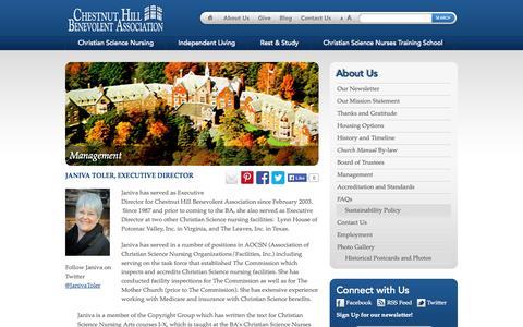 Screenshot of Team Page chbenevolent.org - Management « www.chbenevolent.org www.chbenevolent.org - captured Oct. 2, 2014