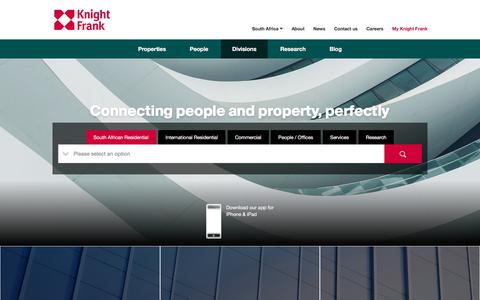 Screenshot of Services Page knightfrank.co.za - Property Services in South Africa | Knight Frank - captured Sept. 4, 2018