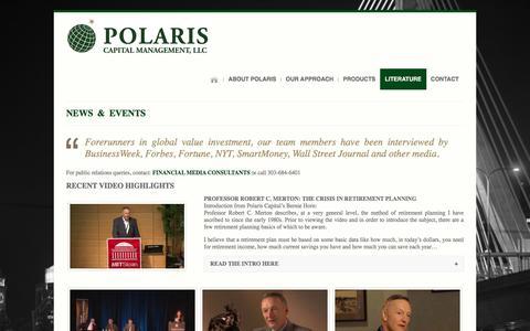 Screenshot of Press Page polariscapital.com - Articles & Interviews | Polaris Capital - captured Nov. 8, 2016