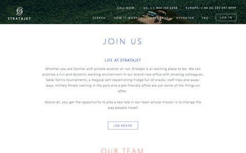 Screenshot of Jobs Page stratajet.com - Stratajet Jobs & Career Vacancies | Join Our Team - captured Jan. 15, 2017
