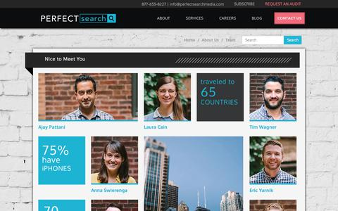 Screenshot of Team Page perfectsearchmedia.com - Our Team | Perfect Search Media - captured April 23, 2018
