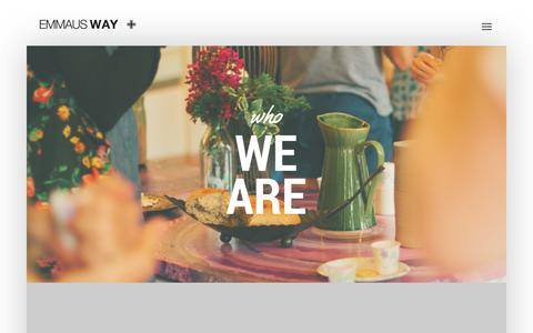 Screenshot of About Page emmausway.net - Emmaus Way | Who We Are - captured July 18, 2018
