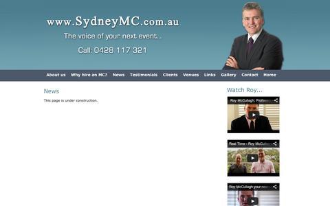 Screenshot of Press Page sydneymc.com.au - Sydney MC - The voice of your next event - captured Oct. 9, 2014