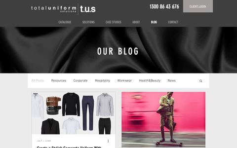 Screenshot of Blog uniform.com.au - Our Blog | Total Uniform Solutions - captured Oct. 20, 2018