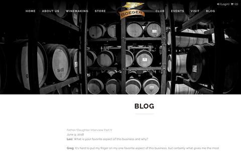 Screenshot of Blog boegerwinery.com - Boeger Winery - Blog - captured Nov. 6, 2018