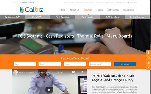 Screenshot of Services Page calbizpos.com - We Sell, Service and Program Register and POS System in Los Angeles - captured Oct. 21, 2018