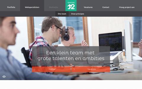 Screenshot of Team Page 12hoog.nl - Team   12HOOG Webspecialisten - captured Oct. 27, 2014