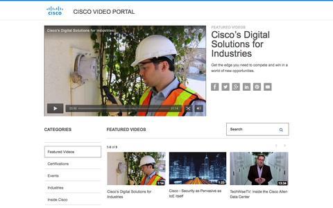 Screenshot of Products Page Services Page cisco.com - Cisco Video Portal - captured Nov. 14, 2015