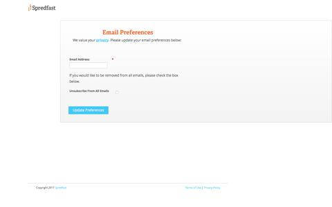 Screenshot of Landing Page spredfast.com captured March 22, 2017