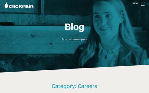 Screenshot of Jobs Page clickrain.com - Blog | Click Rain, Inc. - captured Aug. 12, 2016
