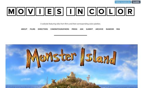 Screenshot of Home Page moviesincolor.com - Movies In Color - captured Jan. 6, 2017