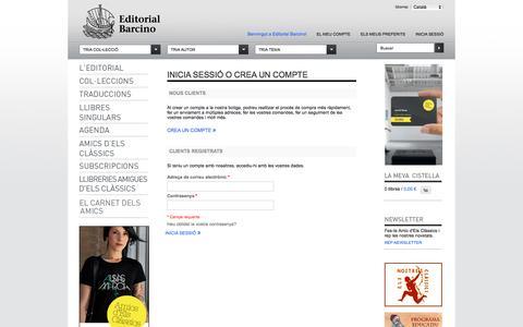 Screenshot of Login Page editorialbarcino.cat - Inici de sessió del client - captured June 12, 2016
