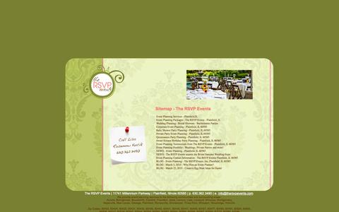 Screenshot of Site Map Page thersvpevents.com - Event Planning Contacts - The RSVP Events - captured Sept. 30, 2014