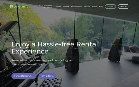Property Management & Rental Services For Landlords & Renters | onerent