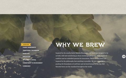 Screenshot of About Page sierranevada.com - Why We Brew | www.sierranevada.com - captured Jan. 24, 2016