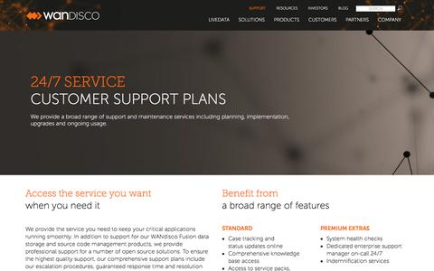 Screenshot of Support Page wandisco.com - Support | WANdisco - captured Sept. 3, 2018
