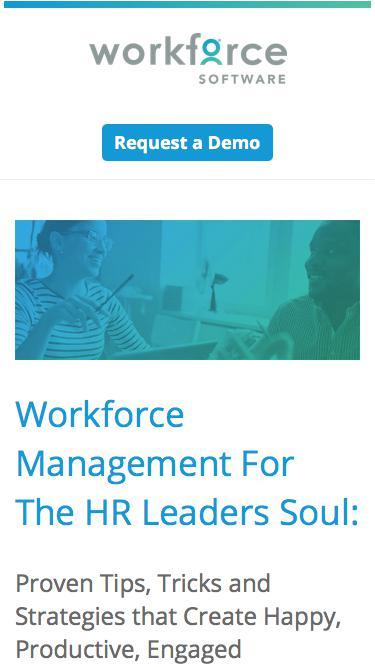 Workforce Management for the HR Leader's Soul