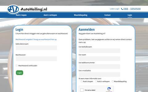 Screenshot of Login Page autoveiling.nl - Login - AutoVeiling.nl - captured Sept. 28, 2018