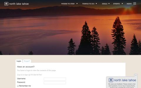 Screenshot of Signup Page gotahoenorth.com - Signin - Go Tahoe North - captured Aug. 28, 2016