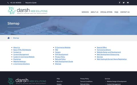 Screenshot of Site Map Page darshwebsolutions.com - Site Map - Darsh Web Solutions - captured Aug. 5, 2018