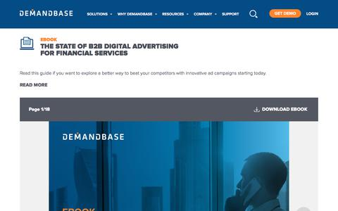 Screenshot of Services Page demandbase.com - The State of B2B Digital Advertising for Financial Services | Account-Based Marketing – Demandbase - captured Nov. 6, 2019