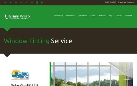 Screenshot of Home Page glasswrap.com - Glass Wrap | Window Tinting Service | Pensacola, FL - captured Oct. 2, 2014