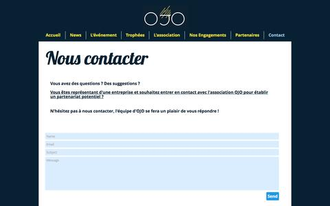 Screenshot of Contact Page jeuxomnisports.com - Contact - captured Nov. 29, 2016