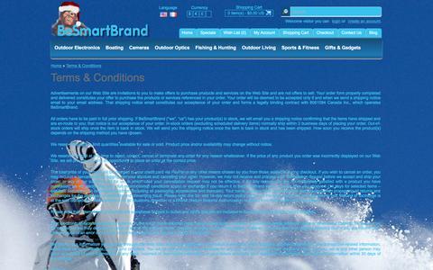 Screenshot of Terms Page besmartbrand.com - Terms & Conditions - captured Dec. 30, 2015