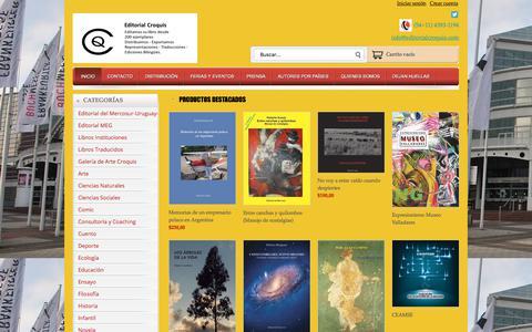 Screenshot of Home Page editorialcroquis.com - Tienda Online de Editorial Croquis - captured July 17, 2017