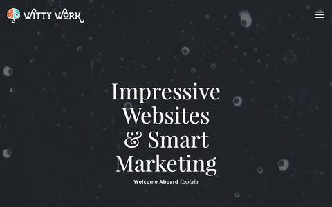 Screenshot of Home Page wittywork.com - #1 Minnesota Web Designer - Witty Work - Cambridge, Minnesota - captured April 3, 2016