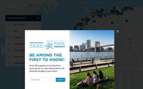 Screenshot of Maps & Directions Page brooklynbridgepark.org - Map - Brooklyn Bridge Park - captured Sept. 24, 2018
