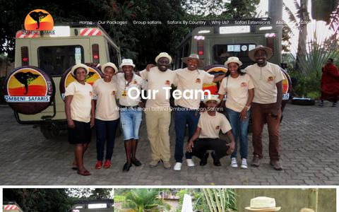 Screenshot of Team Page ombeniafricansafaris.com - our team - Ombeni African Safaris - captured Oct. 19, 2018
