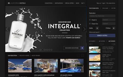 Screenshot of Home Page luxurydreamhotels.com - Luxury Dream Hotels - Luxury hotels I Design hotels & Resorts - Travel inspiration & Best rate guaranteed - captured Sept. 30, 2014