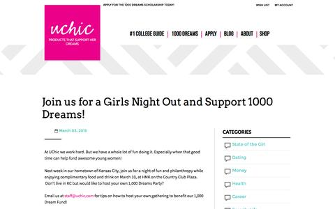 Screenshot of Signup Page uchic.com - Join us for a Girls Night Out and Support 1000 Dreams! | UChic - captured Jan. 10, 2016