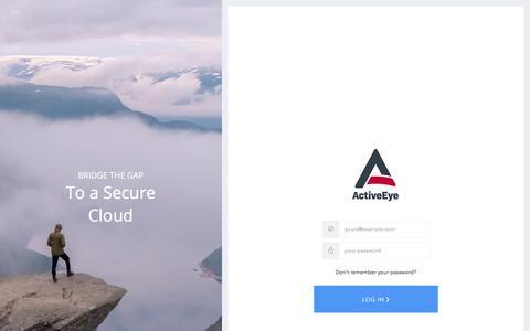 Screenshot of Login Page deltarisk.com - Sign In to ActiveEye - captured July 15, 2019