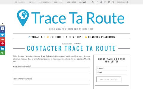 Screenshot of Contact Page trace-ta-route.com - Contacter Trace Ta Route - captured Feb. 18, 2016