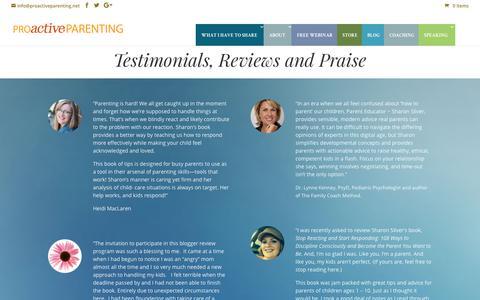 Screenshot of Testimonials Page proactiveparenting.net - Testimonials - Proactive Parenting - captured July 22, 2018