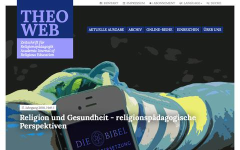 Screenshot of Home Page theo-web.de - Theo-Web.de - captured Nov. 27, 2018