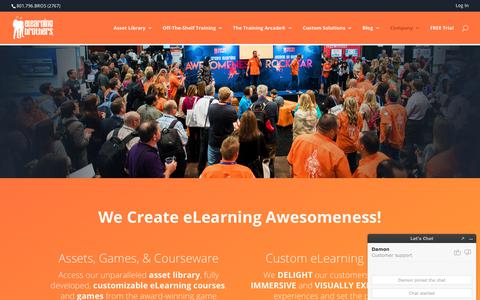 Screenshot of About Page elearningbrothers.com - About Us: We Develop Brilliant Custom eLearning & Templates - captured Sept. 20, 2019