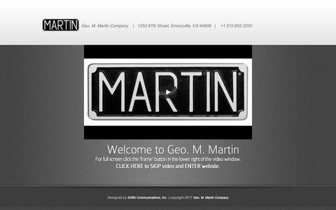 Screenshot of Home Page geomartin.com - Geo. M. Martin - captured Sept. 27, 2018