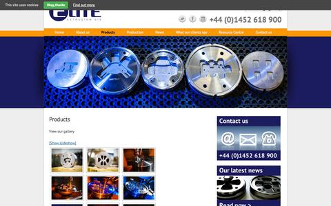 Screenshot of Products Page elitedie.eu - Extrusion Die Product Gallery - Elite Extrusion Die - captured Oct. 2, 2014