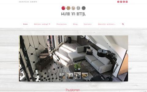Screenshot of Home Page huis-in-stijl.nl - Interieuradvies nodig? Huis in Stijl! - captured July 22, 2018