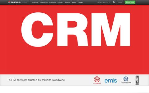 Screenshot of Home Page sugarcrm.com - CRM Software & Online Customer Relationship Management | SugarCRM.com English (Americas) - captured July 11, 2014