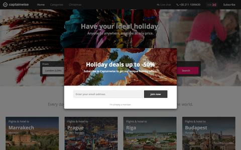 Screenshot of Home Page captainwise.com - Captainwise - captured Dec. 1, 2015