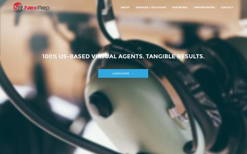 Screenshot of Home Page nexrep.com - NexRep - captured Sept. 19, 2014