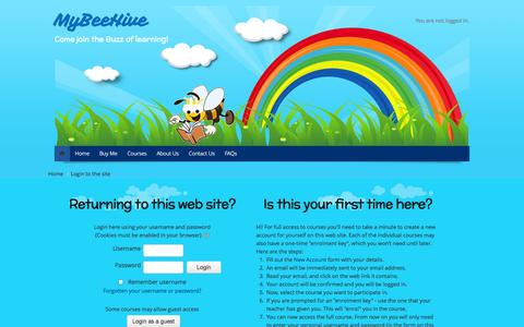 Screenshot of Login Page mybeehive.in - MyBeeHive.in: Login to the site - captured Oct. 5, 2014