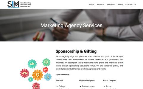 Screenshot of Services Page sports1marketing.com - Marketing Agency Consulting Services   Sports 1 Marketing Agency - captured Dec. 12, 2016