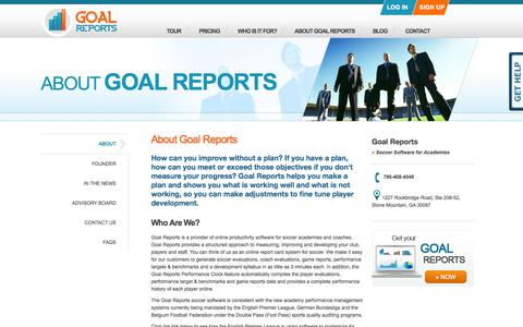 Goal Reports - About Us