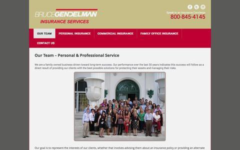 Screenshot of Team Page gendelman.com - Our Team | Bruce Gendelman Insurance Services - captured Oct. 5, 2014
